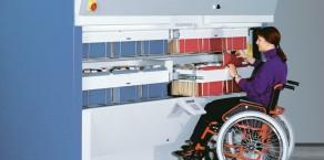 Regał dla niepełnosprawnych