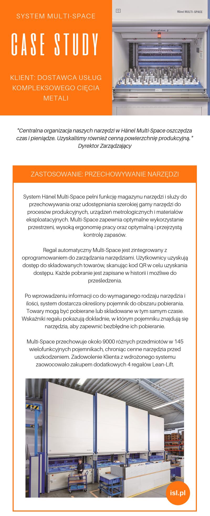 cięcie metalu - wdrożenie systemu multi-space